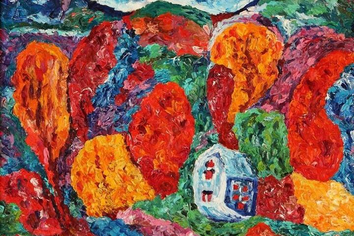 """Jono Butkevičiaus tapybos darbų parodos """"Skambantys kontrastai"""" atidarymas"""
